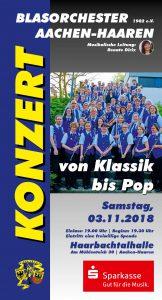 Blasorchester Jahreskonzert @ Haarbachtalhalle   Aachen   Nordrhein-Westfalen   Deutschland