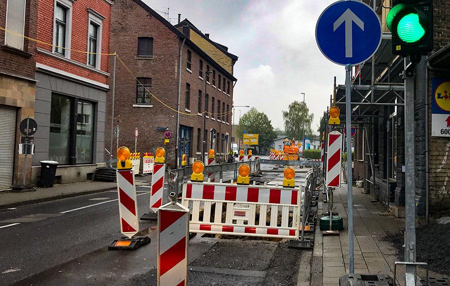 Baustelle Haaren alt-haarener Straße