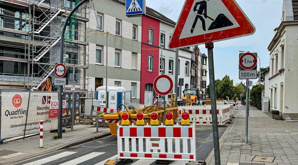 Friedenstraße Haaren gesperrt