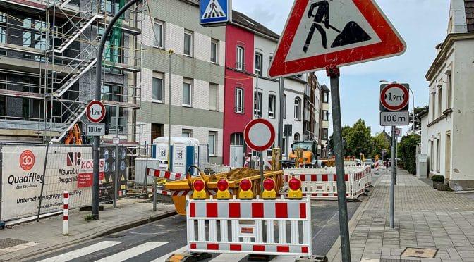 Baustelle Friedenstraße